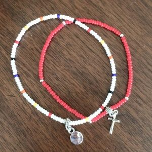 Jewelry - Multi color cross anklet
